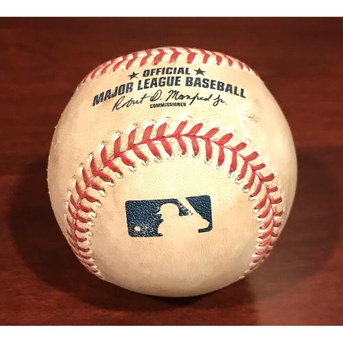 Photo of Game-Used Baseball - Yasmany Tomas Single vs. Ross Stripling & Jean Segura Single vs. Ross Stripling