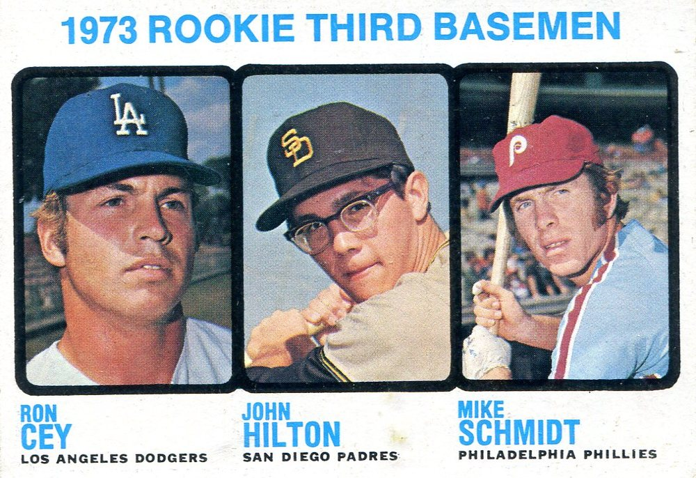 1973 Topps #615 Rookie 3B/Ron Cey/John Hilton/Mike Schmidt Rookie card
