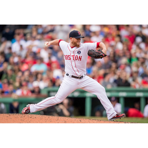 Photo of Red Sox Foundation Patriots' Day - Craig Kimbrel Game-Used and Autographed Jersey