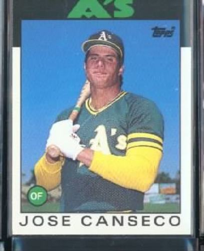 Photo of 1986 Topps Traded #20T Jose Canseco XRC