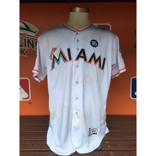 Photo of Justin Bour Game-Used Jersey (Grand slam - 6/19/17)