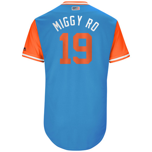 "Photo of Miguel ""Miggy Ro"" Rojas Miami Marlins Game-Used Players Weekend Jersey"