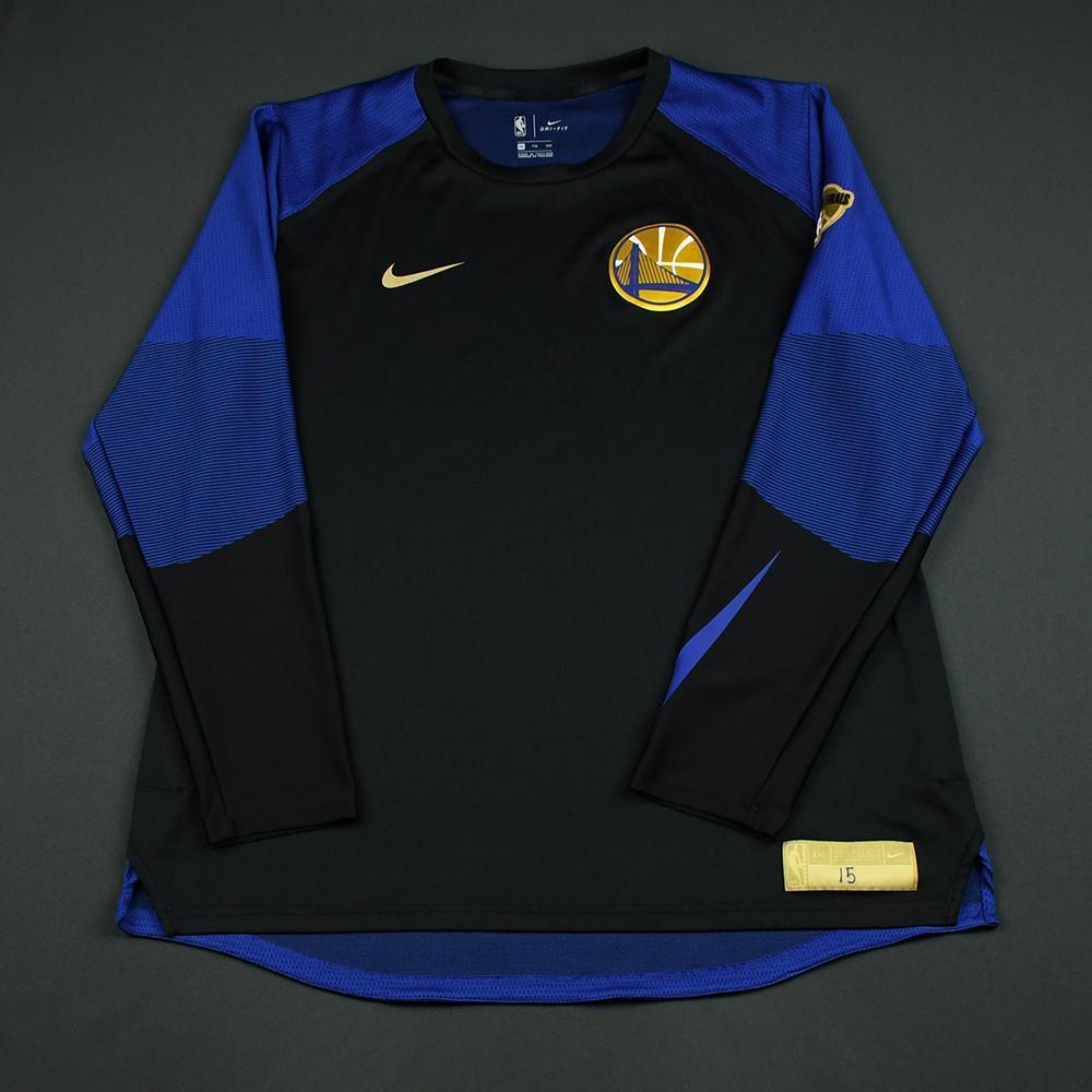 Damian Jones - Golden State Warriors - 2018 NBA Finals - Game-Issued Shooting Shirt