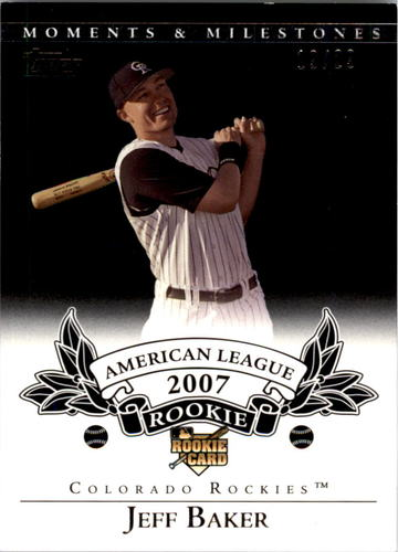 Photo of 2007 Topps Moments and Milestones Black #186 Jeff Baker
