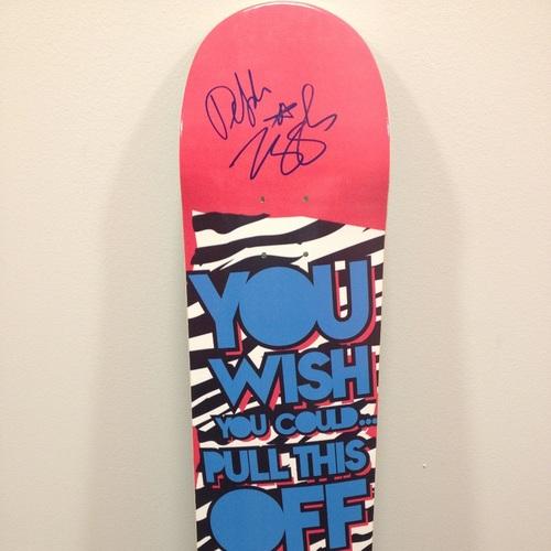 Dolph Ziggler SIGNED Skateboard Deck
