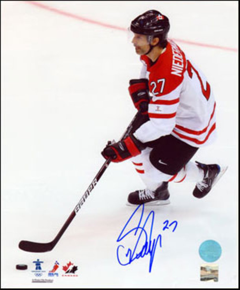 SCOTT NIEDERMAYER Team Canada SIGNED 8x10 Photo Olympic Photo