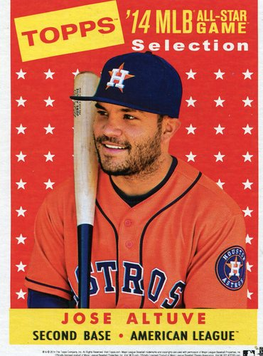 Photo of 2014 Topps 5x7 All-Star Selection Jose Altuve -- Part of exclusive Minneapolis FanFest set