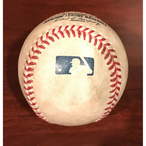 Photo of Game-Used Baseball - Nick Ahmed Double vs. Justin Nicolino