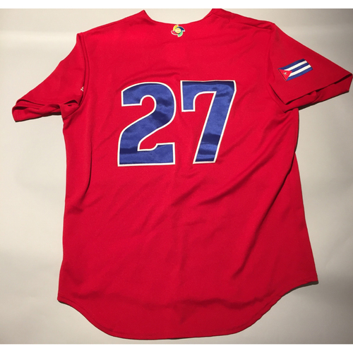 2017 WBC: Cuba Game-Used Batting Practice Jersey, #27
