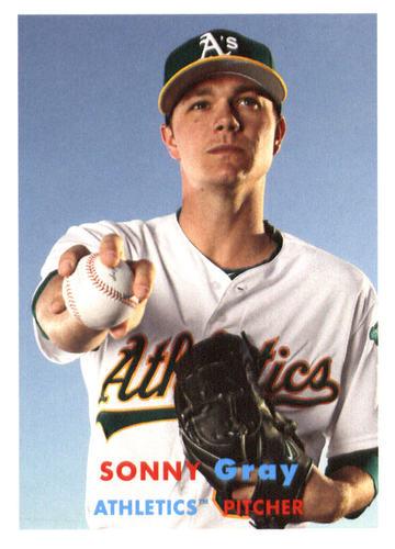 Photo of 2015 Topps Archives #56 Sonny Gray -- Yankees post-season