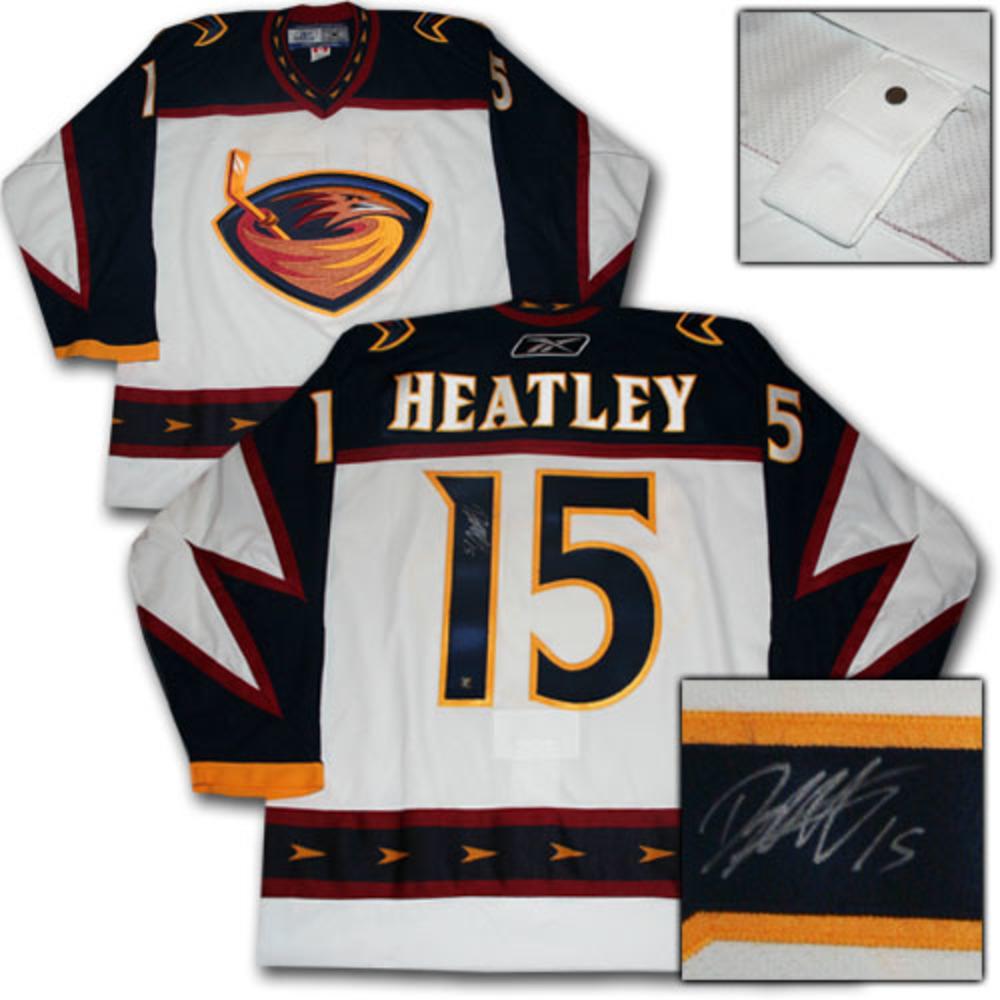 Dany Heatley Autographed Atlanta Thrashers Authentic Pro Jersey
