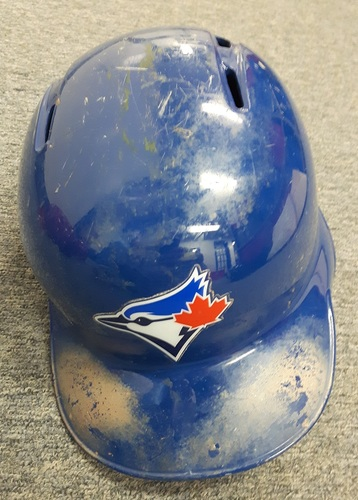 Photo of Authenticated Game Used Helmet - #11 Kevin Pillar. Size 7 1/8.