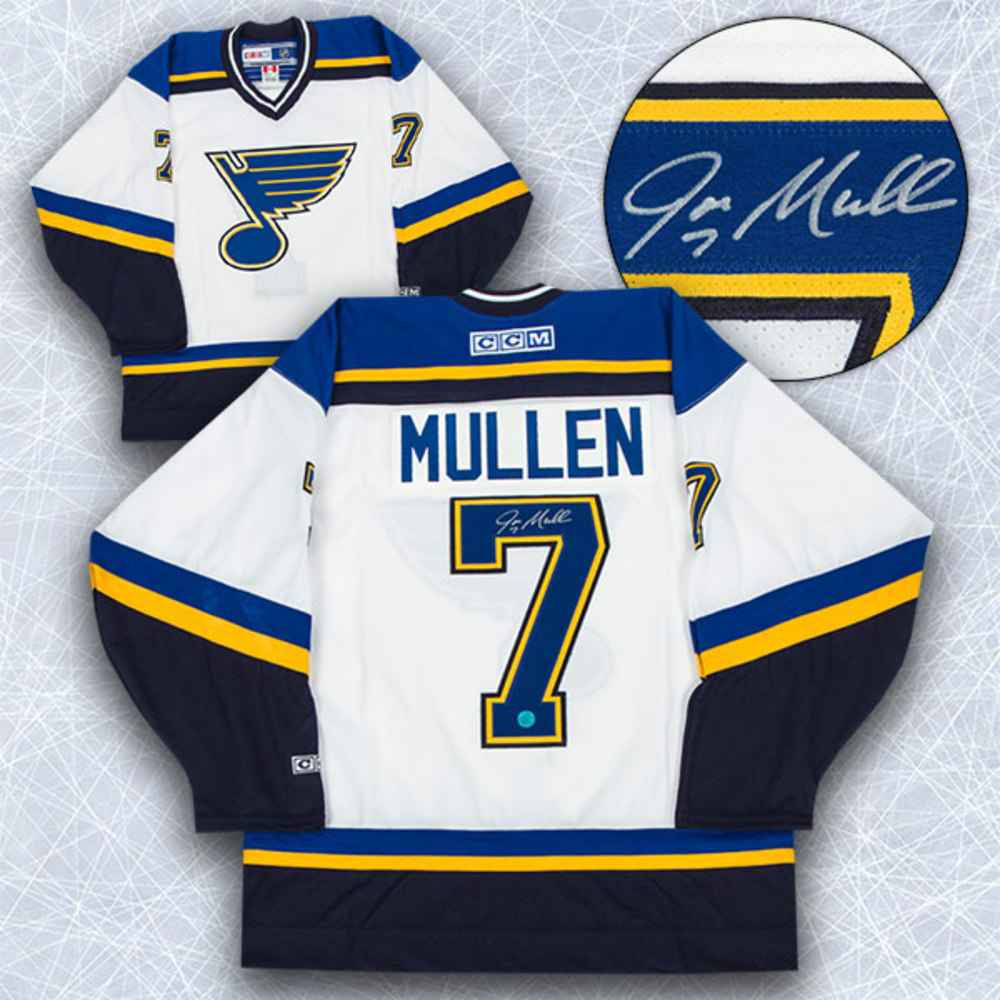 Joe Mullen St. Louis Blues Autographed Retro CCM Hockey Jersey