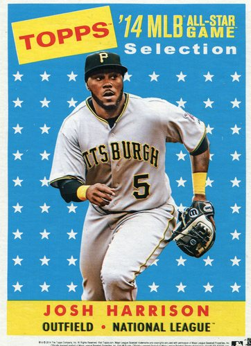 Photo of 2014 Topps 5x7 All-Star Selection Josh Harrison -- Part of exclusive Minneapolis FanFest set