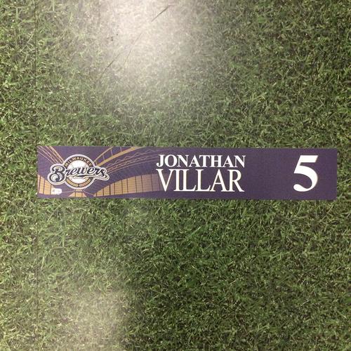 Photo of Jonathan Villar 2016 Locker Nameplate