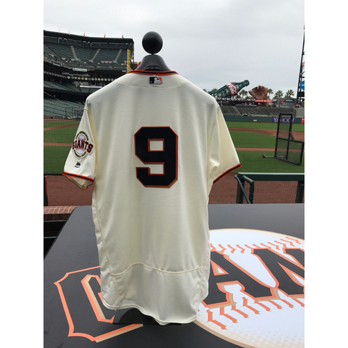 Photo of San Francisco Giants - Home Opening Day Jersey - Game Used - Brandon Belt #9