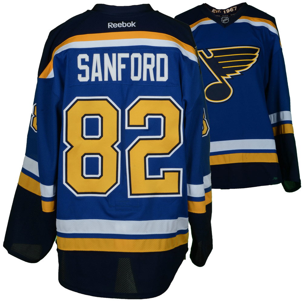 Zachary Sanford St. Louis Blues Game-Used Home Set 4 Jersey - Worn From  March 23rd, 2017 through Western Conference Semi-Finals