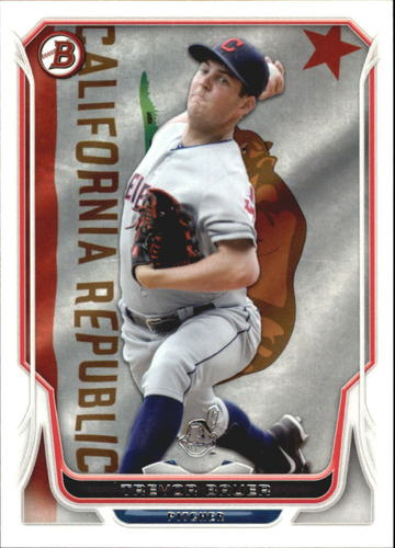 Photo of 2014 Bowman Hometown #162 Trevor Bauer -- Indians post-season