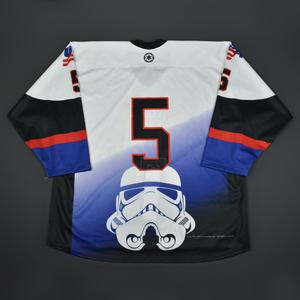 #5 No Name On Back - 2016 U.S. National Under-18 Development Team - Star Wars Night Game-Ready Jersey