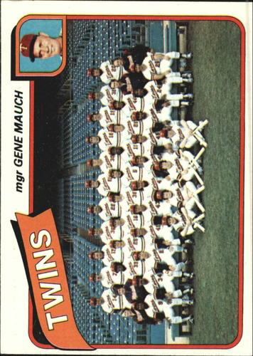 Photo of 1980 Topps #328 Minnesota Twins CL/Gene Mauch MG