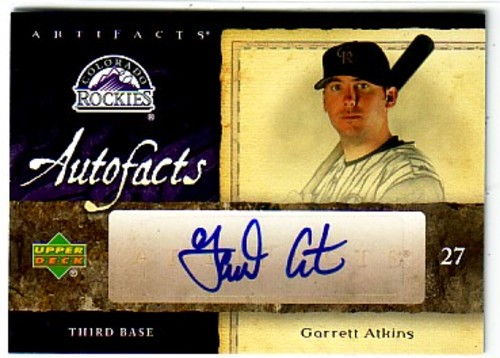 Photo of 2007 Artifacts Autofacts #GA Garrett Atkins
