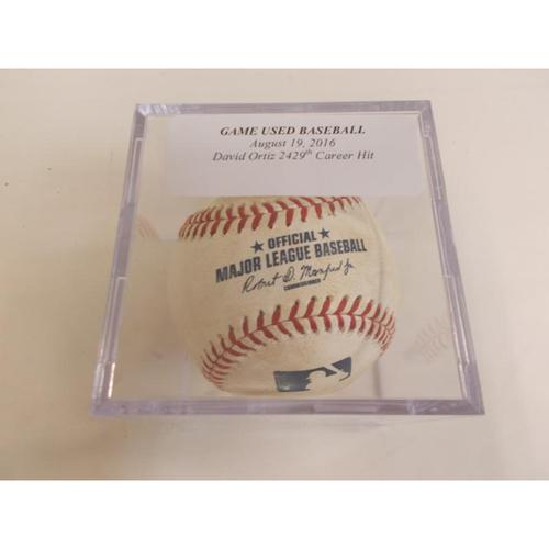 Photo of Game-Used Baseball: David Ortiz 2,429th Career Hit