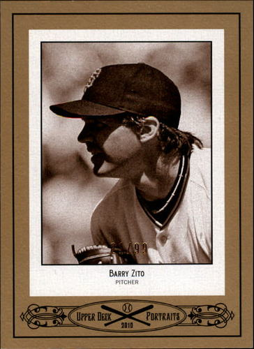 Photo of 2010 Upper Deck Portraits Gold #SE74 Barry Zito /99
