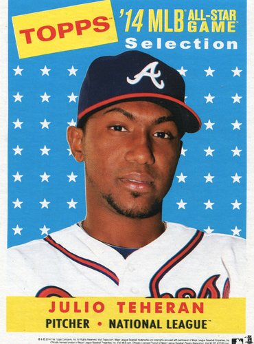 Photo of 2014 Topps 5x7 All-Star Selection Julio Teheran -- Part of exclusive Minneapolis FanFest set
