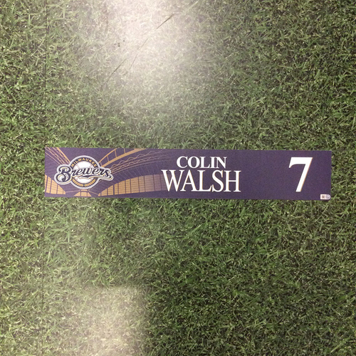 Photo of Colin Walsh 2016 Locker Nameplate