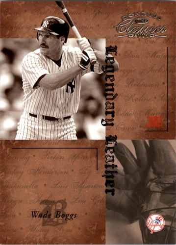 Photo of 2004 Donruss Classics Legendary Leather #40 Wade Boggs/100