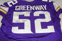 BCA - VIKINGS CHAD GREENWAY GAME ISSUED AND SIGNED VIKINGS JERSEY (OCTOBER 9 2016)