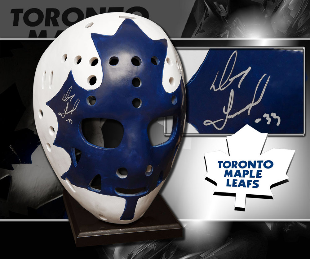 Doug Favell Toronto Maple Leafs Autographed Full Size Replica Mask