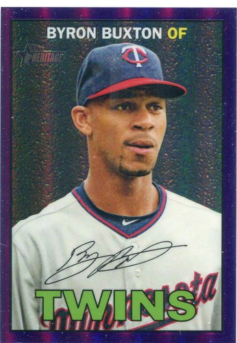 Photo of 2016 Topps Heritage Chrome Purple Refractors #THC50 Byron Buxton