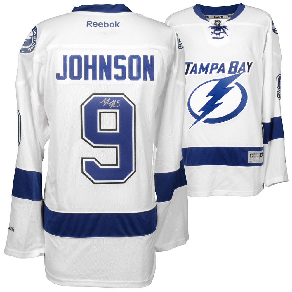 Tyler Johnson Tampa Bay Lightning Autographed White Reebok Premier Jersey
