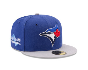 Toronto Blue Jays Washed Essential Royal/Grey Fitted Cap by New Era