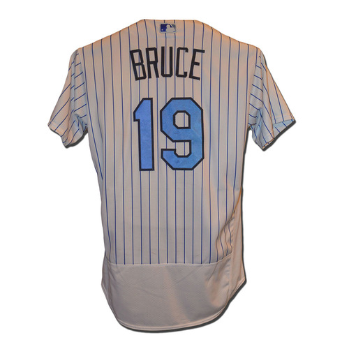 Photo of Jay Bruce #19 - Game Used Father's Day Jersey - Mets vs. Nationals - 6/18/17