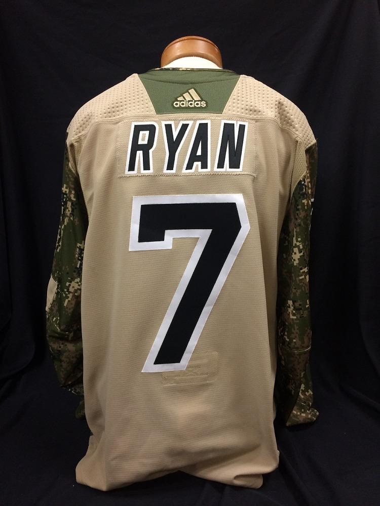 Derek Ryan #7 Autographed Military Appreciation Jersey