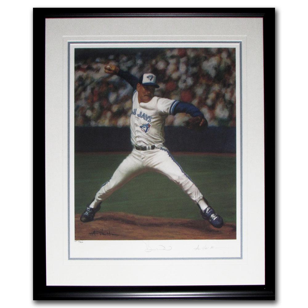 Duane Ward Autographed Toronto Blue Jays Framed Lithograph - #40/200