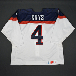 Chad Krys - 2016 U.S. IIHF World Junior Championship - White Game-Worn Jersey