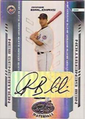 Photo of 2004 Leaf Certified Materials Mirror Autograph White #258 Aarom Baldiris NG/100