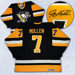 Joe Mullen Pittsburgh Penguins Autographed Retro CCM Hockey Jersey