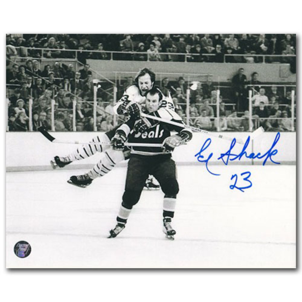 Eddie Shack Autographed Buffalo Sabres 16X20 Photo - 1971 Photo of the Year