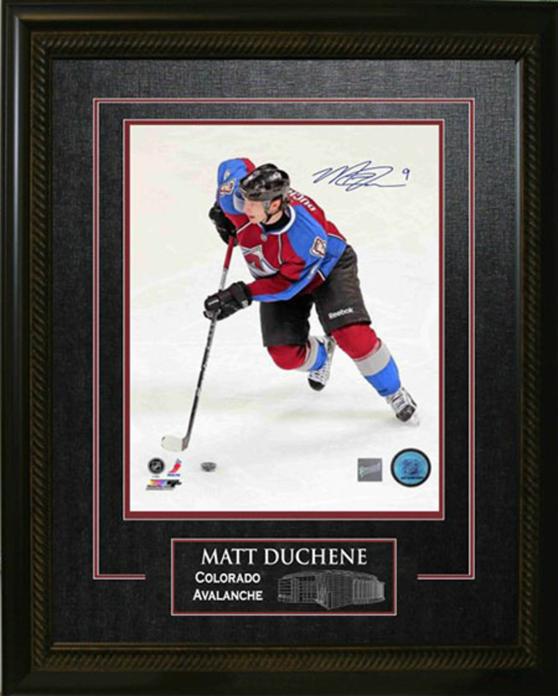 Matt Duchene - Signed & Framed 16x20 Etched Mat - Coloardo Avalanche Burgundy Skating