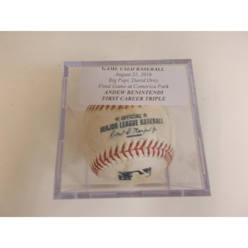 Photo of Game-Used Baseball: Andrew Benintendi's 1st Career Triple