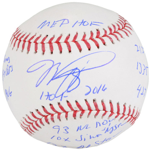 Photo of Mike Piazza New York Mets Autographed Baseball with Career Stats Inscriptions - #1 In a Limited Edition of 12