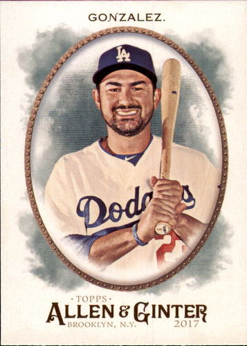 Photo of 2017 Topps Allen and Ginter #5 Adrian Gonzalez -- Dodgers post-season