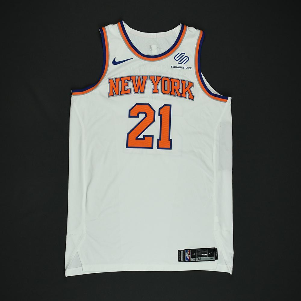 Damyean Dotson - New York Knicks - NBA Christmas Day '17 Game-Issued Jersey