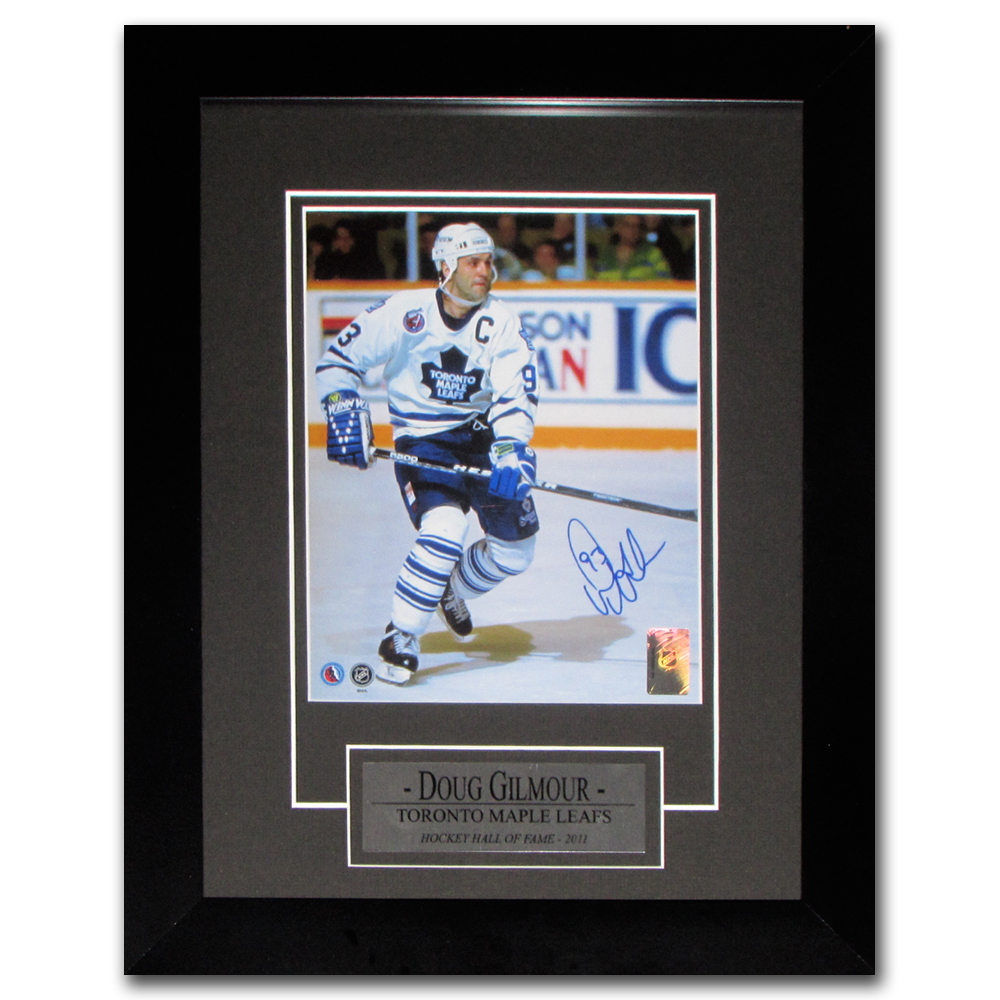 Doug Gilmour Autographed Toronto Maple Leafs Framed 8X10 Photo