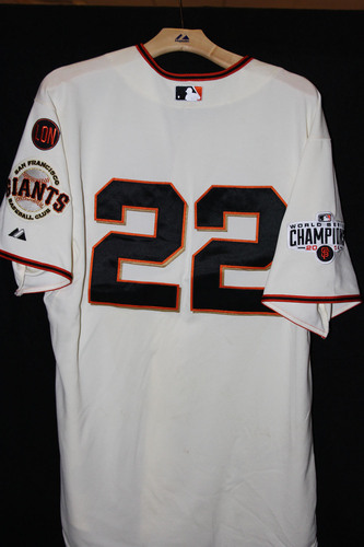 Photo of San Francisco Giants Jake Peavy Game-Used Home Jersey - October 3rd, 2015 vs. the Colorado Rockies