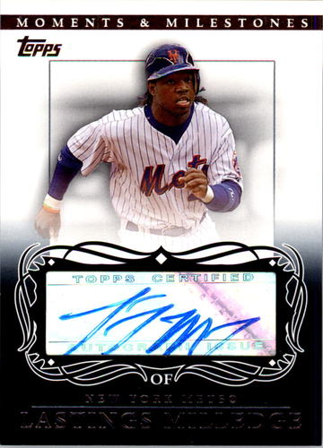 Photo of 2007 Topps Moments and Milestones Milestone Autographs #LM Lastings Milledge D